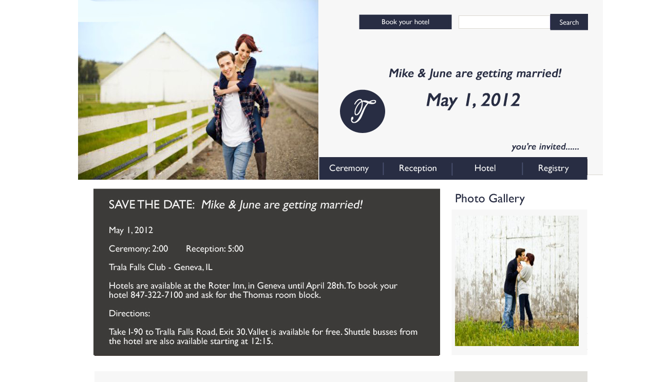 Wedding Website Design Samples | Chicago Wedding Websites