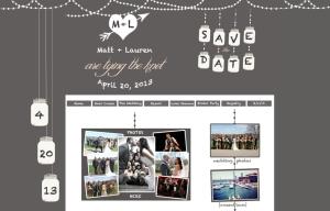 Gray & Blush Wedding Website, Mason Jar Wedding