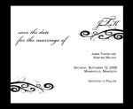 chicago save the date design - black and white save the date