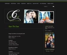 black and green wedding website