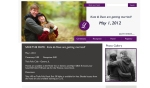 purple gray wedding website