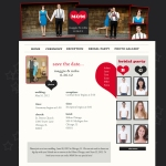 Wedding Website Design - Gray and Red Wedding Website