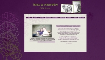 Chicago Wedding Website - Purple & Green Wedding Website