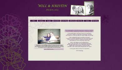 Chicago Wedding Website - Purple & Green Wedding Website